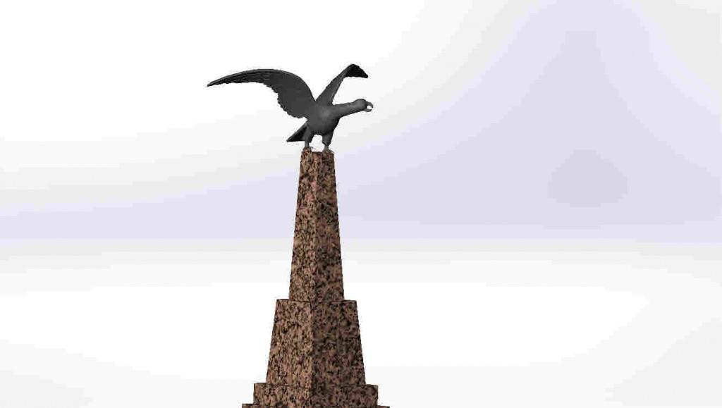 орел на педестале